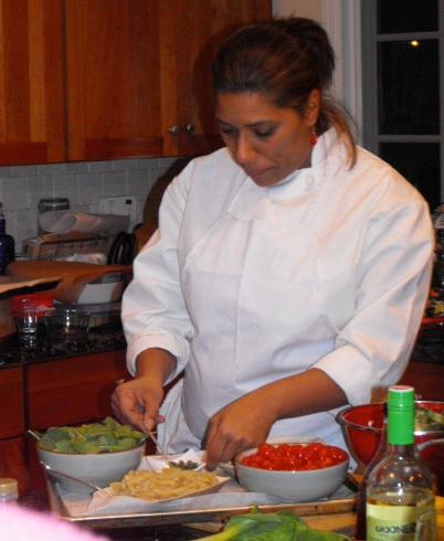 Chef Kiki Homer in action.