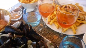Moules Frites with Local Rose