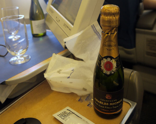 ANA Airlines Charles Mignon Champagne