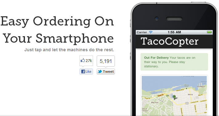 Tacocopter app