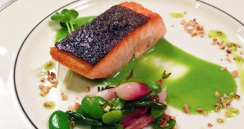 Chef-Alex-Tishman's-King-Salmon-with-Young-Vegetables-and-Washington-Hazelnut