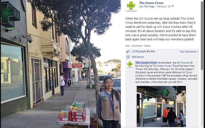 Facebook-Page-The-Green-Cross-Marijuana-Dispensary-and-Girl-Scout-Cookies