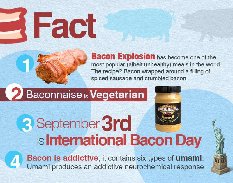 25 Fun Facts About Bacon (Infographic)