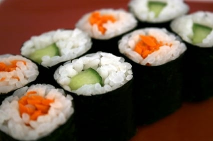 Cucumber and Carrot Maki Sushi